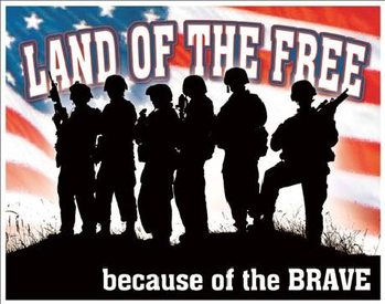 Metalowa tabliczka Land of the Free