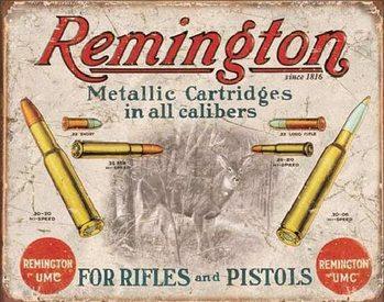 Metalowa tabliczka REM - REMINGTON - For Rifles & Pistols
