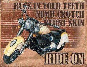 Metalowa tabliczka Ride On