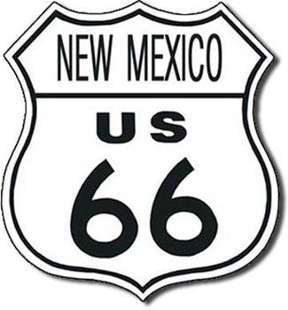 Metalowa tabliczka US 66 - new mexico