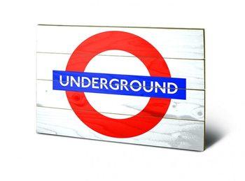 Obraz na drewnie Londyn - Underground Sign