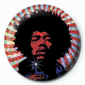 Odznaka Jimi Hendrix plakietka (psychodeliczny)