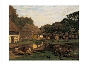 Reprodukcja A Farmyard In Normandy