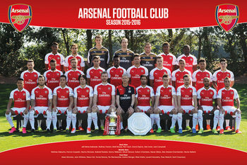 Plakat Arsenal FC - Team Photo 15/16