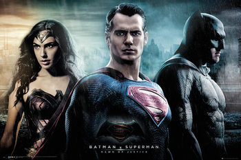 Plakat Batman v Superman: Dawn of Justice - City