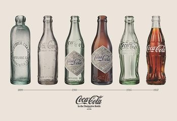 Plakat Coca Cola - Bottle Evolution