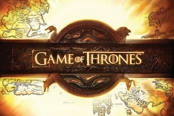 Plakat Gra o tron - Game of Thrones - Logo