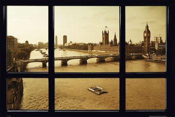Plakat Londyn - Window