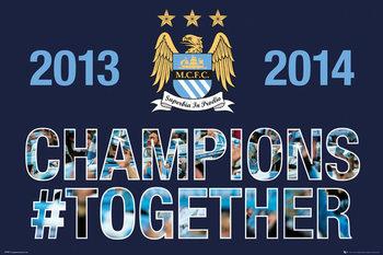 Plakat Manchester City FC - Premiership