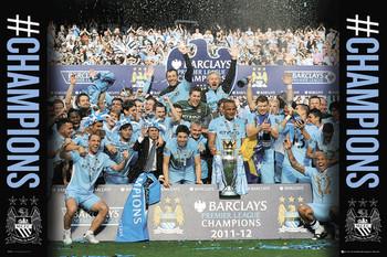 Plakat Manchester City - premiership winners 11/12