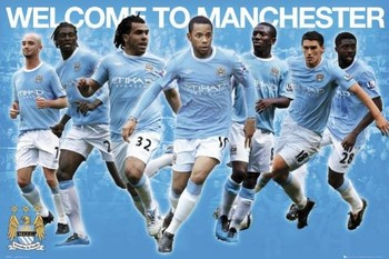 Plakat Manchester City - stars 2010