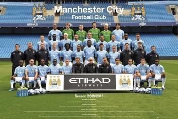 Plakat Manchester City - Team 09/10