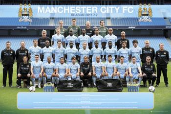 Plakat Manchester City - Team 11/12