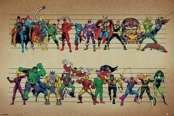 Plakat Marvel Comics - Line Up