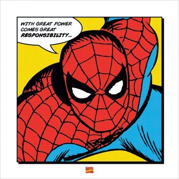 Reprodukcja Spider-Man - With Great Power