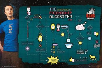 Plakat The Big Bang Theory (Teoria wielkiego podrywu) - Friendship