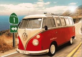 VW Volkswagen Californian Camper  Plakat 3D Oprawiony