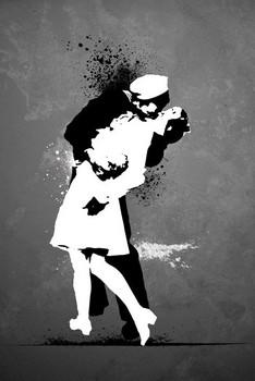 Plakat Wars and kiss