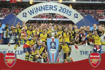 Arsenal FC - FA Cup Winners 14-15 Poster, Art Print