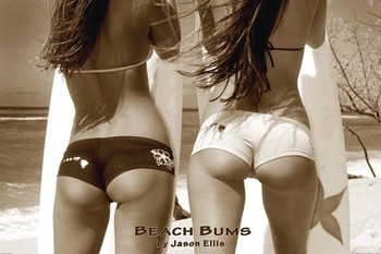 Beach bums - by jason ellis Poster, Art Print