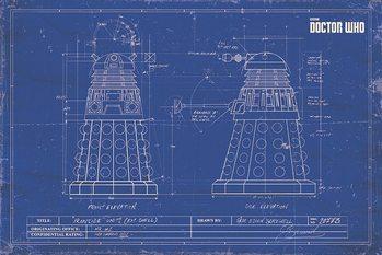 Doctor Who - Dalek Blueprint Poster, Art Print