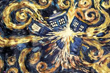 DOCTOR WHO - exploding tardis Poster, Art Print