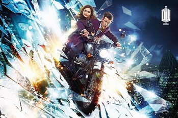 DOCTOR WHO - motorcycle Poster, Art Print