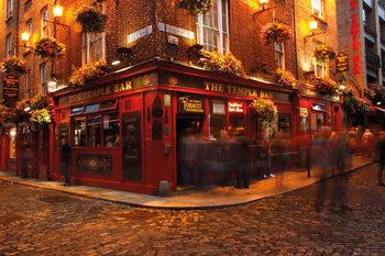 Dublin - Temple Bar Poster, Art Print