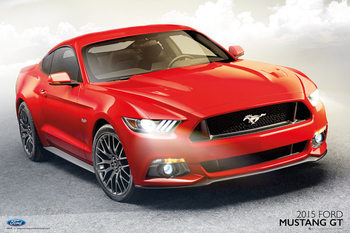 Ford - Mustang GT 2015 Poster, Art Print