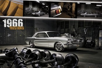Ford Mustang - shelby 1966 Poster, Art Print