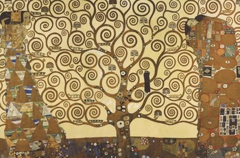 Gustav Klimt - Strom života Poster, Art Print