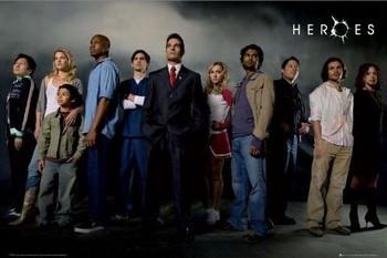 HEROES - cast Poster, Art Print
