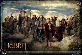 HOBBIT - cast Poster, Art Print