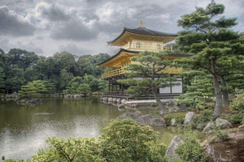 Japan Kinkakuji - golden temple Poster, Art Print