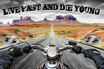 LIVE FAST DIE YOUNG posters | art prints