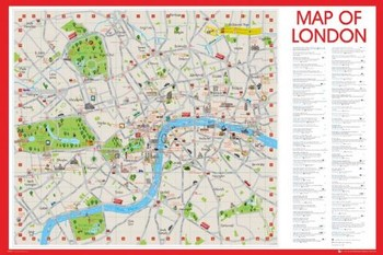LONDON CENTRAL MAP posters | art prints