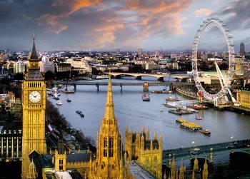 London - Thames Poster, Art Print