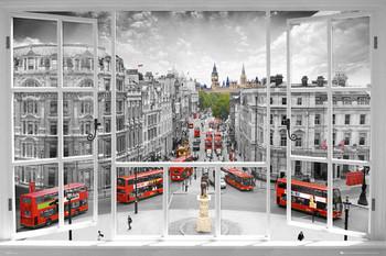 London - window  Poster, Art Print