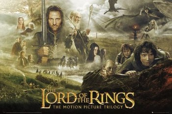 LORD OF THE RINGS - trilogy Poster, Art Print