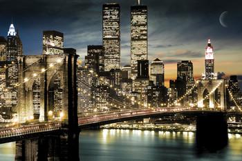 Manhattan - lights Poster, Art Print
