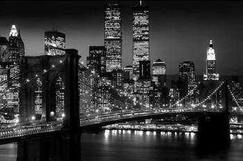 Manhattan - night Poster, Art Print