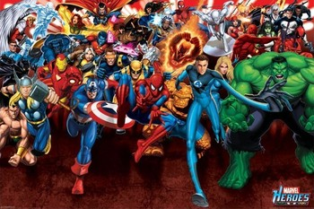 MARVEL HEROES - attack posters | art prints
