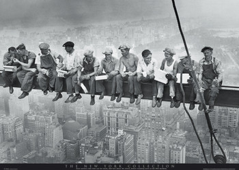 MEN ON GIRDER - new york posters | art prints