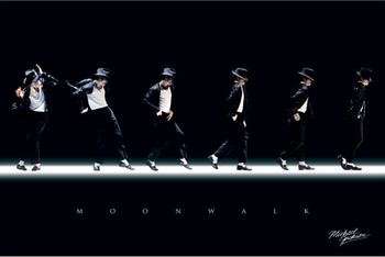 MICHAEL JACKSON - moonwalk posters | art prints