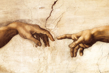 MICHELANGELO BUONARROTI - creation hands posters | art prints