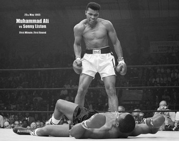 MUHAMMAD ALI vs. SONNY LISTON  posters | art prints