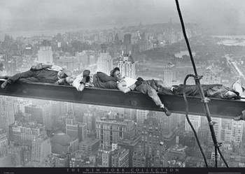 NEW YORK - asleep on girder posters | art prints