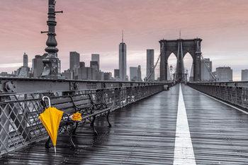 New York - Brooklyn bridge, Assaf Frank Poster, Art Print
