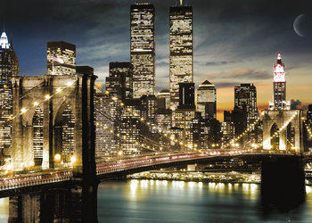 New York - Manhattan Lights Poster, Art Print