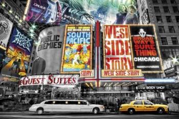 New York - theatre signs Poster, Art Print